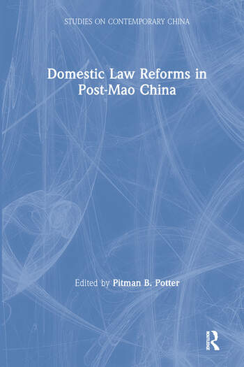 Domestic Law Reforms in Post-Mao China book cover