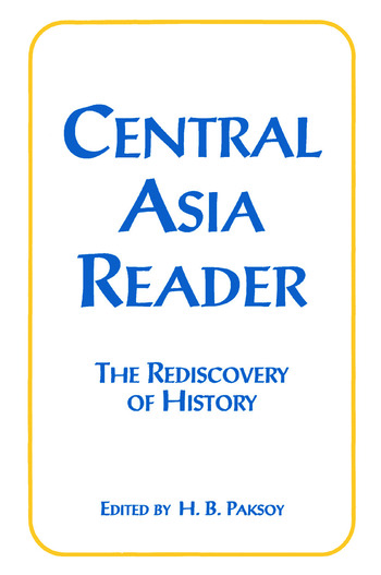 Central Asia Reader: The Rediscovery of History The Rediscovery of History book cover