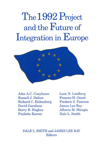 The 1992 Project and the Future of Integration in Europe book cover
