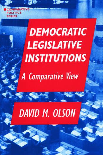 Democratic Legislative Institutions: A Comparative View A Comparative View book cover