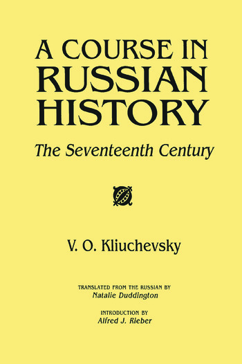 A Course in Russian History The Seventeenth Century book cover