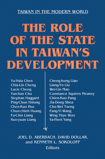 The Role of the State in Taiwan's Development book cover