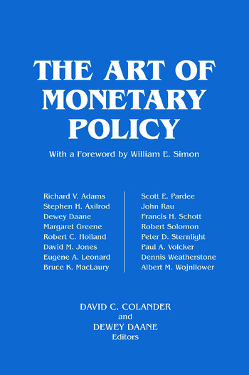 The Art of Monetary Policy book cover
