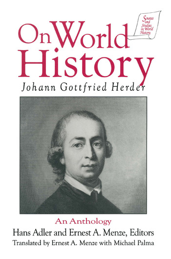 Johann Gottfried Herder on World History: An Anthology An Anthology book cover