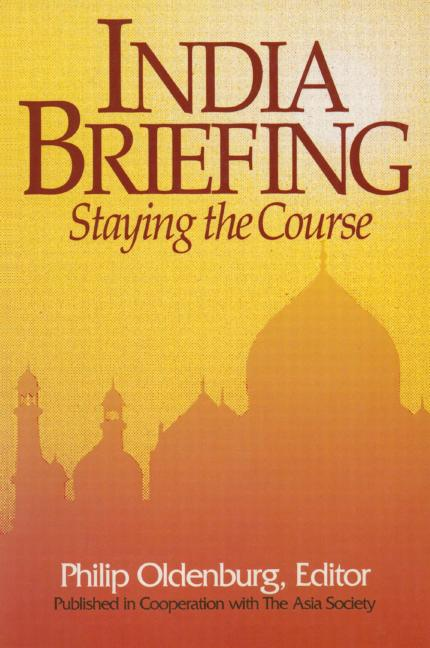 India Briefing Staying the Course book cover