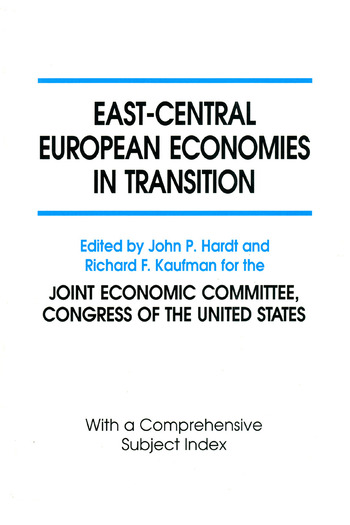 East-Central European Economies in Transition book cover