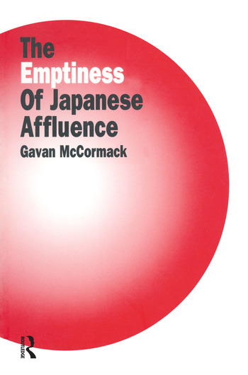 The Emptiness of Affluence in Japan book cover