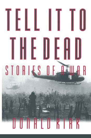 Tell it to the Dead Memories of a War book cover