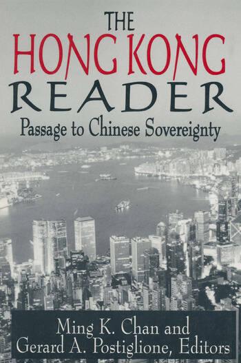 The Hong Kong Reader: Passage to Chinese Sovereignty Passage to Chinese Sovereignty book cover