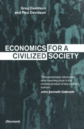 Economics for a Civilized Society book cover