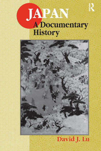 Japan: A Documentary History A Documentary History book cover