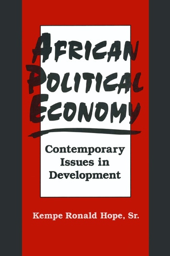 African Political Economy: Contemporary Issues in Development Contemporary Issues in Development book cover