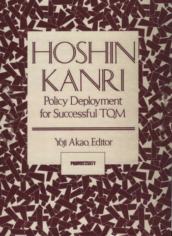 Hoshin Kanri Policy Deployment for Successful TQM book cover