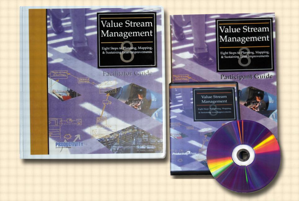 Value Stream Management DVD Set Eight Steps to Planning, Mapping and Sustaining Lean Improvements book cover
