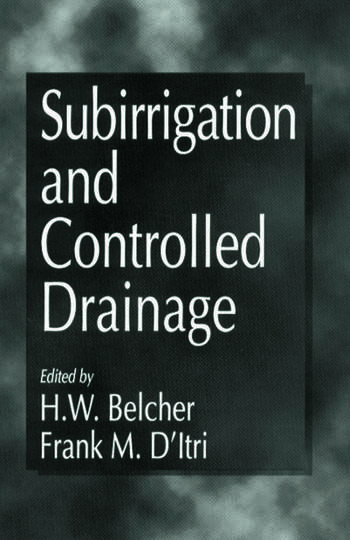Subirrigation and Controlled Drainage book cover