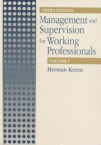Management Supervision for Working Profiles, Third Edition, Two Volume Set book cover