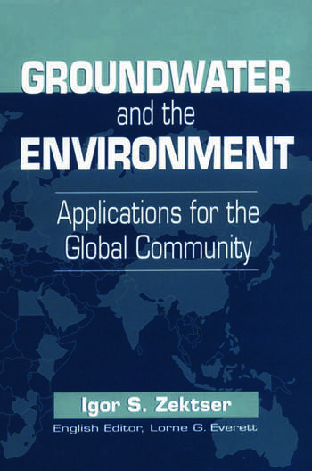 Groundwater and the Environment Applications for the Global Community book cover