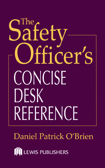 The Safety Officer's Concise Desk Reference book cover