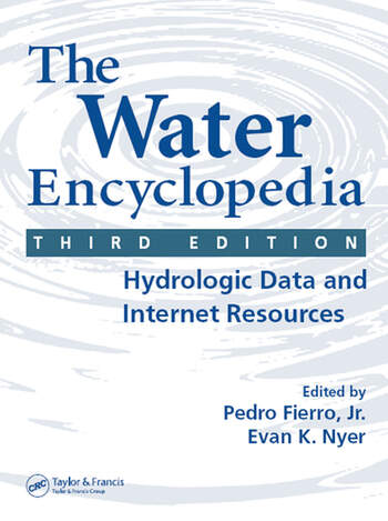 The Water Encyclopedia Hydrologic Data and Internet Resources book cover