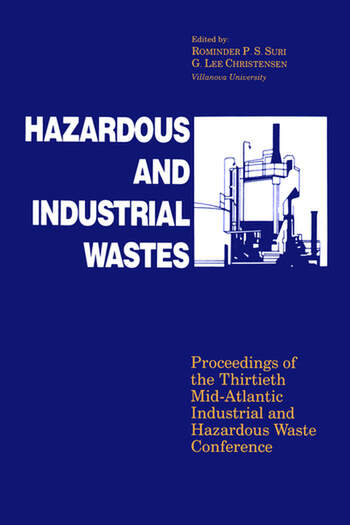 Hazardous and Industrial Waste Proceedings, 30th Mid-Atlantic Conference book cover