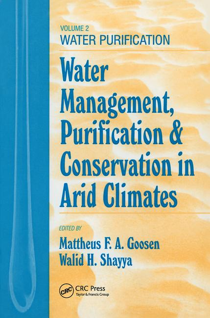 Water Management, Purificaton, and Conservation in Arid Climates, Volume II Water Purification book cover