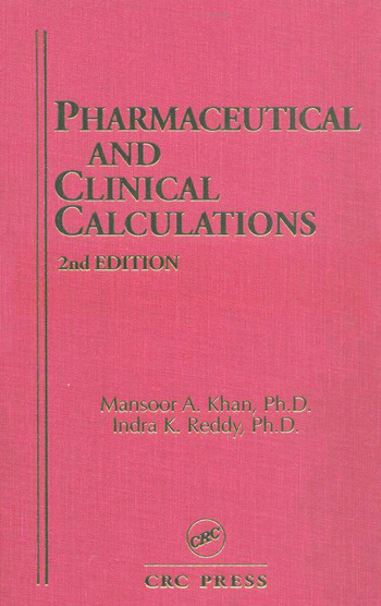 Pharmaceutical and Clinical Calculations book cover