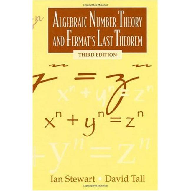 Algebraic Number Theory and Fermat's Last Theorem Third Edition book cover