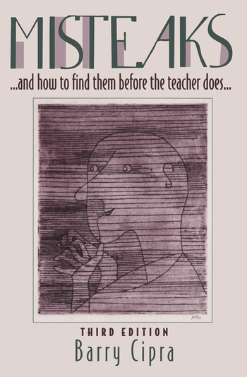 Misteaks. . . and how to find them before the teacher does. . . A Calculus Supplement, 3rd Edition book cover