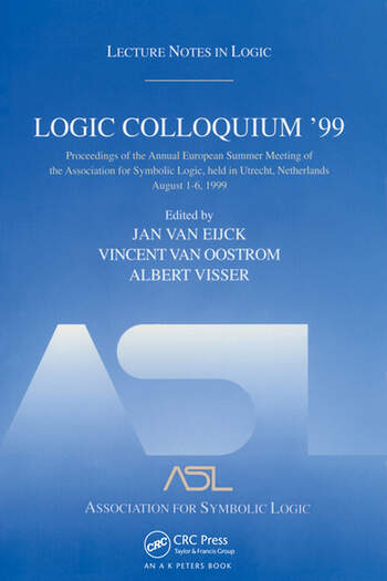 Logic Colloquium '99 Lecture Notes in Logic 17 book cover