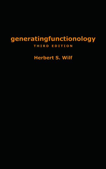 generatingfunctionology Third Edition book cover