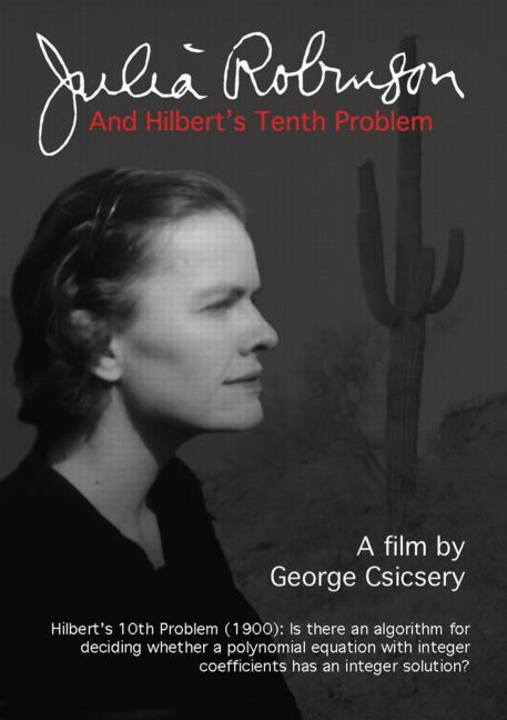 Julia Robinson and Hilbert's Tenth Problem (DVD) book cover