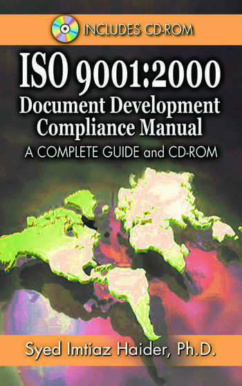 Iso 9001 2000 Document Development Compliance Manual: A Complete Guide and CD-ROM book cover