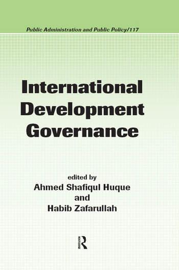 International Development Governance book cover
