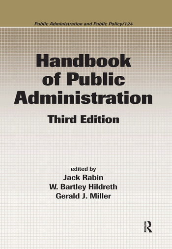 Handbook of Public Administration book cover