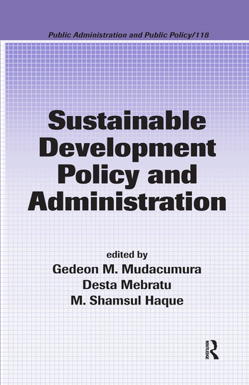 Sustainable Development Policy and Administration book cover