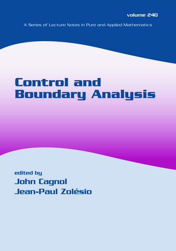 Control and Boundary Analysis book cover