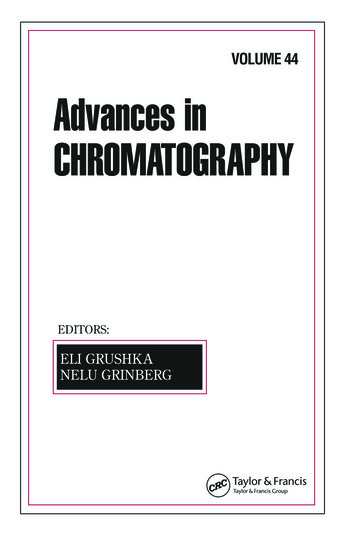 Advances In Chromatography Volume 44 book cover