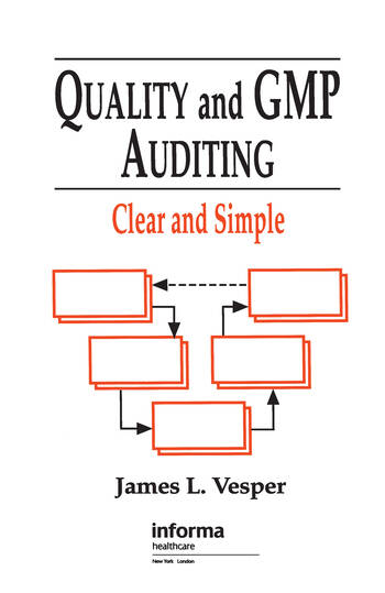 Quality and GMP Auditing Clear and Simple book cover