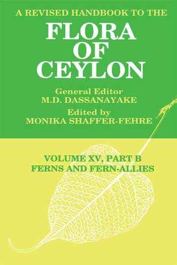 A Revised Handbook to the Flora of Ceylon, Vol. XV, Part B Ferns and Fern-Allies book cover