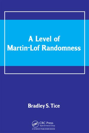 A Level of Martin-Lof Randomness book cover