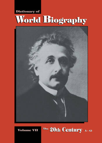 The 20th Century A-GI Dictionary of World Biography, Volume 7 book cover
