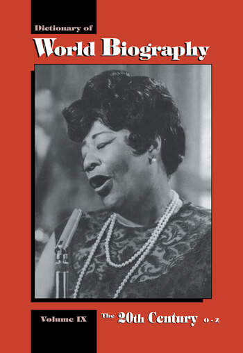The 20th Century O-Z Dictionary of World Biography book cover