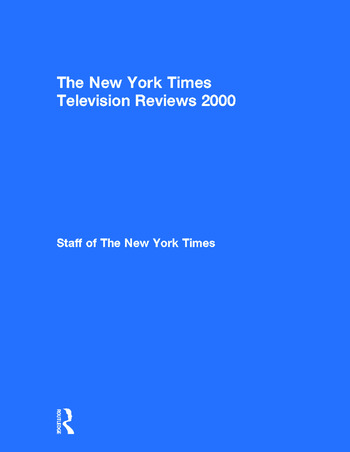 The New York Times Television Reviews 2000 book cover