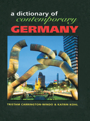 Dictionary of Contemporary Germany book cover