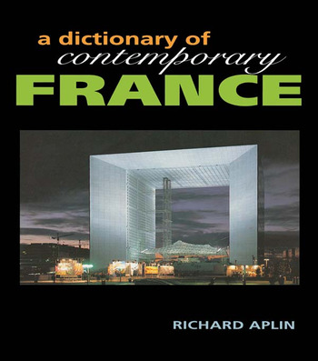 Dictionary of Contemporary France book cover