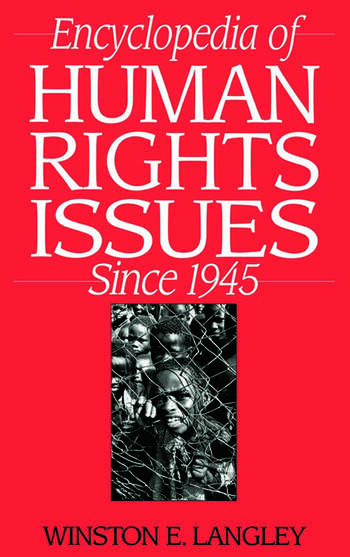 Encyclopedia of Human Rights Issues Since 1945 book cover