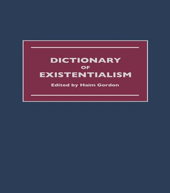 Dictionary of Existentialism book cover