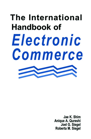 The International Handbook of Electronic Commerce book cover