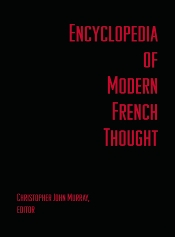 Encyclopedia of Modern French Thought book cover