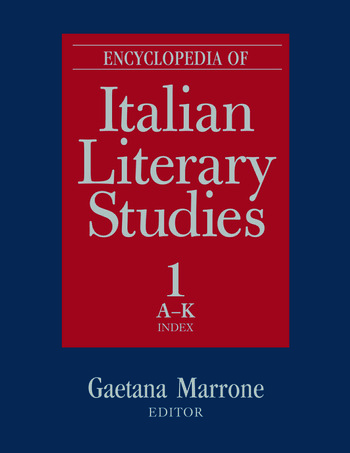 Encyclopedia of Italian Literary Studies book cover
